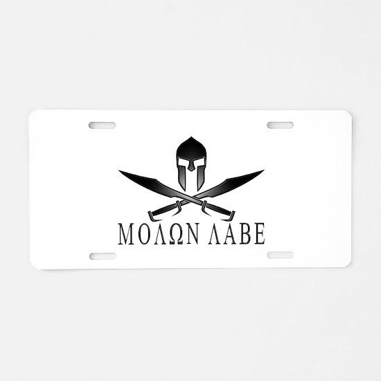 Funny Molon labe Aluminum License Plate