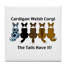 Wagging Cardigans Tile Coaster