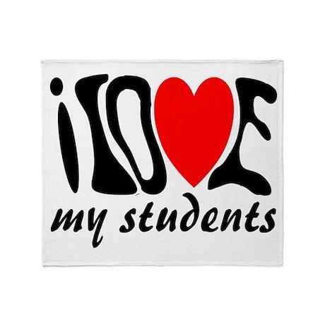 teacher loves students Throw Blanket