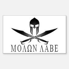 Funny Molon labe Decal
