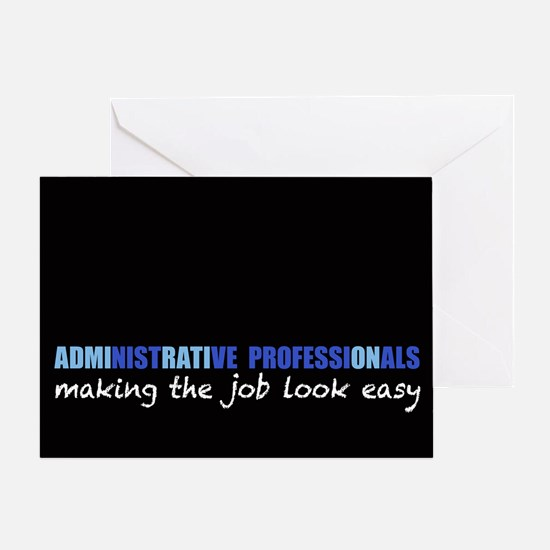 Admirable Administrative Pros Greeting Card