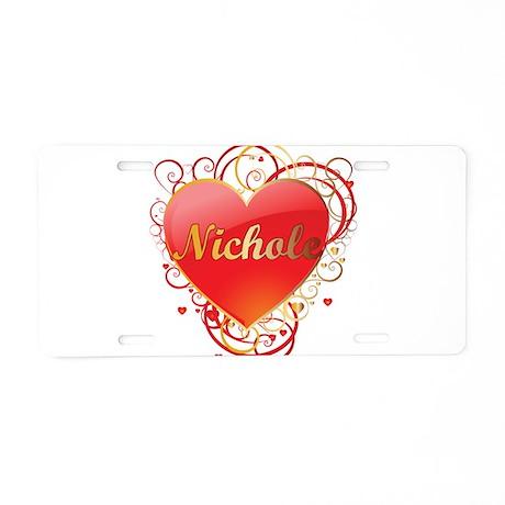 Nichole Valentines Aluminum License Plate