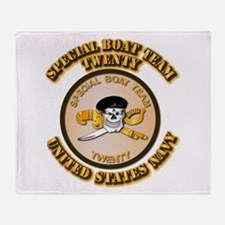 Navy - SOF - Special Boat Team 20 Throw Blanket