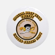 Navy - SOF - Special Boat Team 20 Ornament (Round)