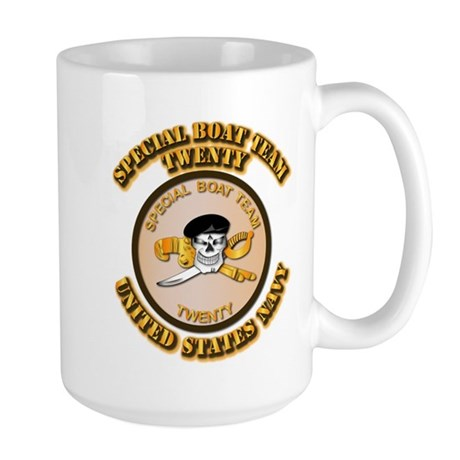 Navy - SOF - Special Boat Team 20 Large Mug