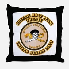Navy - SOF - Special Boat Team 20 Throw Pillow