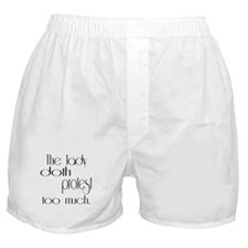 Lady Doth Protest Feminine Boxer Shorts