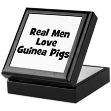 Real Men Love Guinea Pigs Keepsake Box
