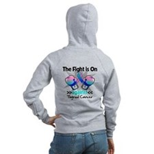 Fight is On Thyroid Cancer Zip Hoodie