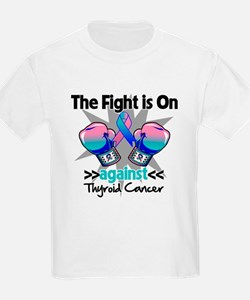 Fight is On Thyroid Cancer T-Shirt