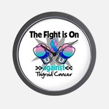 Fight is On Thyroid Cancer Wall Clock