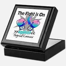 Fight is On Thyroid Cancer Keepsake Box