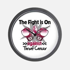 Fight is On Throat Cancer Wall Clock