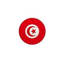 "Tunisia World Flag 1"" Badge / Mini Button"