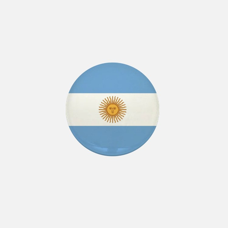 "Argentina World Flag 1"" Badge / Mini Button"