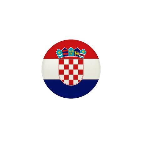 """Croatia World Flag 1"""" Badge / Mini Button"""