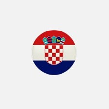 "Croatia World Flag 1"" Badge / Mini Button"
