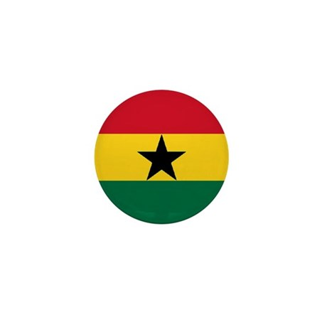 "ghana World Flag 1"" Badge / Mini Button"