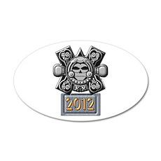 2012 Mayan Crossbones 22x14 Oval Wall Peel
