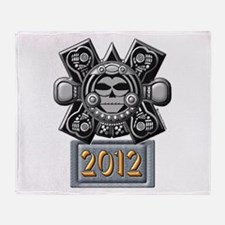 2012 Mayan Crossbones Throw Blanket