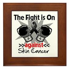 Fight is On Skin Cancer Framed Tile