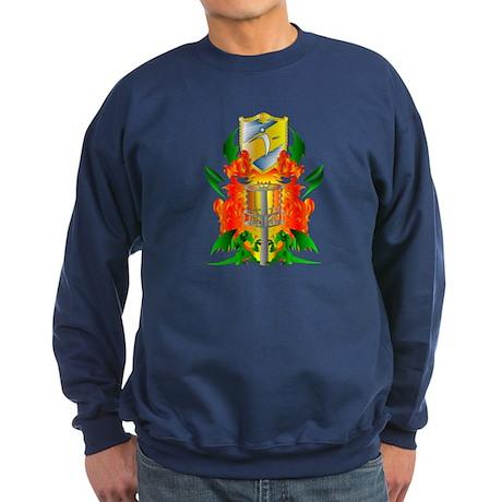 Color Disc Golf Coat of Arms Sweatshirt (dark)