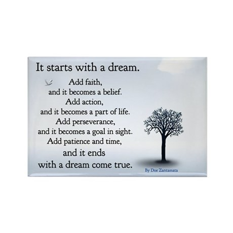 It starts with a dream Magnet (100 pack)