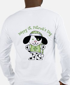 Happy St. Pats Puppy Long Sleeve T-Shirt