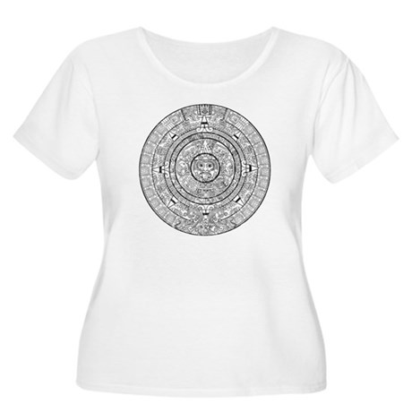Aztec Sun Stone Calendar Women's Plus Size Scoop N