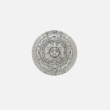 Aztec Sun Stone Calendar Mini Button