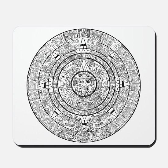 Aztec Sun Stone Calendar Mousepad