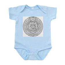 Aztec Sun Stone Calendar Infant Bodysuit