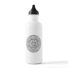 Aztec Sun Stone Calendar Water Bottle