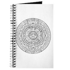 Aztec Sun Stone Calendar Journal