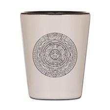 Aztec Sun Stone Calendar Shot Glass