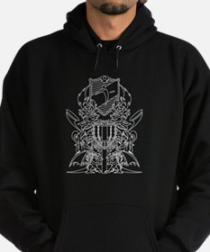 Black/White Disc Golf Coat of Arms Hoodie