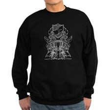 Black/White Disc Golf Coat of Arms Sweatshirt