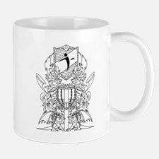 Black/White Disc Golf Coat of Arms Mug