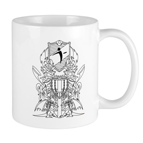 Black/White Disc Golf Coat of Arms Mug