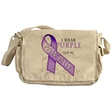 I Wear Purple for my Paw Paw Messenger Bag