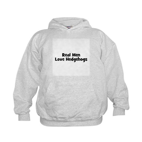 Real Men Love Hedgehogs Kids Hoodie