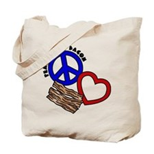 P,L,Bacon Tote Bag (on both sides)