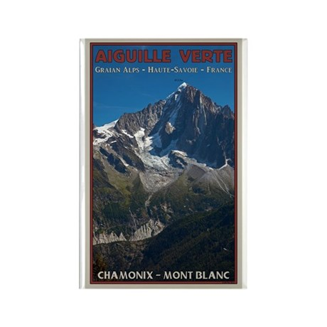 Aiguille Verte Rectangle Magnet (100 pack)