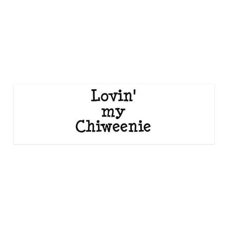 Lovin' My Chiweenie 42x14 Wall Peel