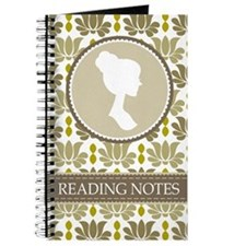 Austen Reading Fan Notebook Journal