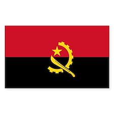 Angola World Flag Bumper Decal