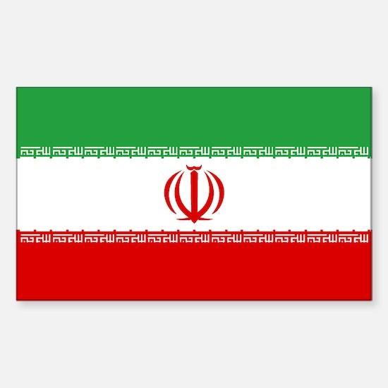 Iran World Flag Bumper Decal