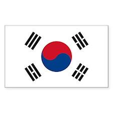 South Korea World Flag Bumper Decal