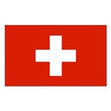 Switzerland World Flag Bumper Decal
