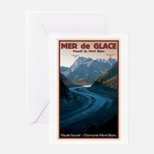 Mer de Glace Greeting Card